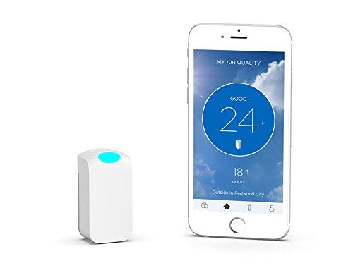 Wynd Wearable Air Quality Tracker, White Matte Air Quality Sensor