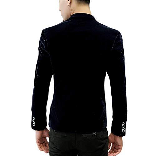 Hommes Blazers Un Slim Navyblue Veste Bouton Unie Costume D'affaires Blazer Décontracté Loisir Revers Couleur Vêtements Avec Fit frrdqCw