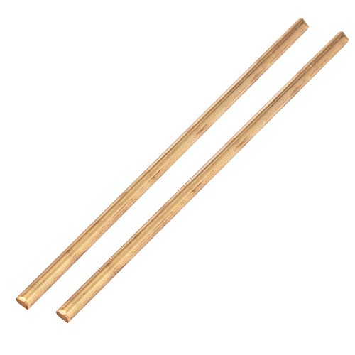 Ochoos 2pcs//lot New Excellent Ductility Brass Round Rod Pin Unpolished Rod Copper Blank Scales Blade Handle Brass Rod 1//4 5mm*150mm