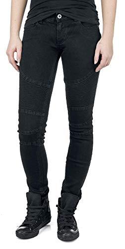 Pantalones Negro Tejanos Estilo Forplay Motero wZnFBnq1