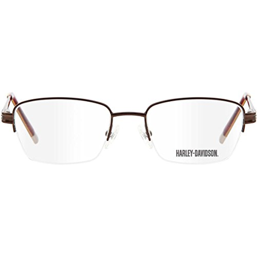 Harley Davidson - Montures de lunettes - Homme marron Brown with Red Taille  Unique ... 5b26ae53eeb1