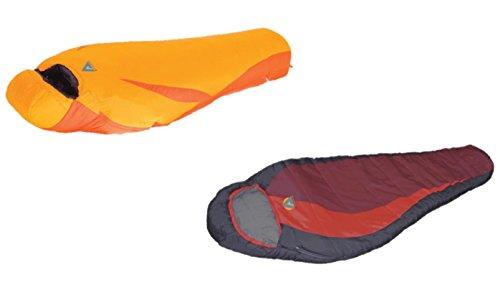 High Peak USA Alpinizmo Redwood -5F And Ultra Lite 20F Sleeping Bags Combo Set, Red/Orange, One Size by Alpinizmo