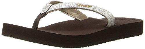 Reef Women's Star Cushion Sassy, Brown/White, 8 M US
