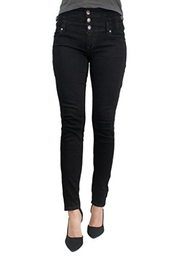 Eunina Jeans Women's High Waisted Stretch Skinny Denim Jeans 11 Black Dark Wash
