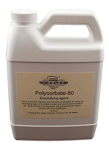 Polysorbate 80, 32oz 1 Quart Jug. Safety Sealed Container
