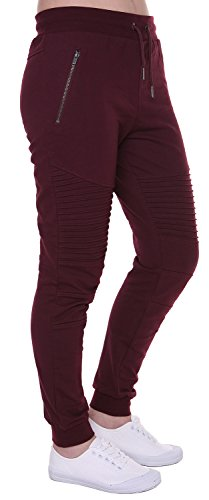 - FORBIDEFENSE Women's Biker Jogger Pants With Casual Comfortable Slim-Fit Made by Cotton Terry Durable and Fexible For Jogger, Dark Plum, Large