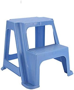 Llsdls Taburete infantil de 2 escalones, Escalera de plástico resistente para uso en lavamanos y entrenamiento para el baño, Taburete de baño y cocina para niños pequeños, Taburetes de peldaños para n: