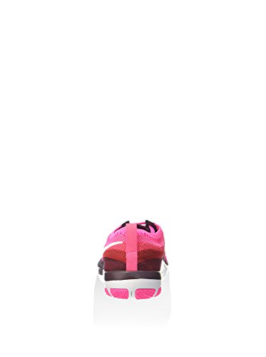 NIKE Frauen Free Focus Flyknit Trainingsschuh, Deep Burgundy / White-Pink Blast 844817-601 Tiefes Burgunder / Weiß-Rosa Explosion