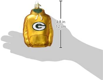 Old World Christmas Green Bay Packers Glass Blown Ornaments for Christmas Tree Football