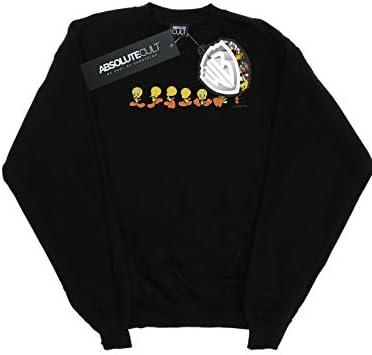 Absolute Cult Looney Tunes Herren Tweety Pie Colour Code Sweatshirt Schwarz XXX-Large