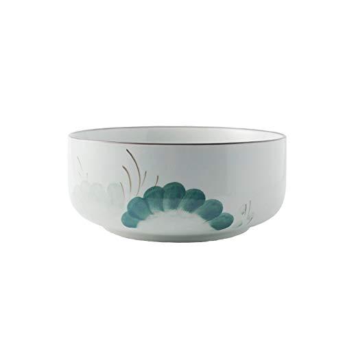 XQJDD Tableware creative hand-painted underglaze color ceramic dish bowl household rice bowl noodle soup bowl dish plate set combination bowl 20x9.5cm