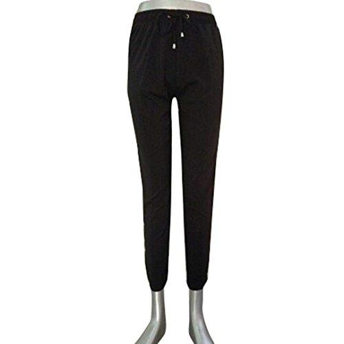 Fit Skinny HaiDean Semplice Con Pantaloni Glamorous Pantaloni Donna Chino Elegante Colori Base Slim Solidi Waist Elastico Comodo Moda Nero High Ragazze Tasche Casual YqOCq