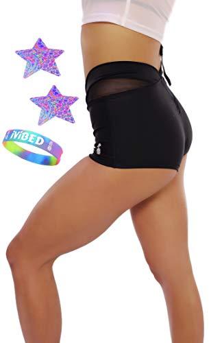 Women Rave Booty Shorts Athletic EDM Fitness Festival Clothing New 2019