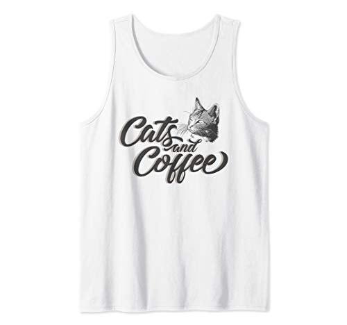 Cute Cat Treats Lover and Coffee Drinker Funny