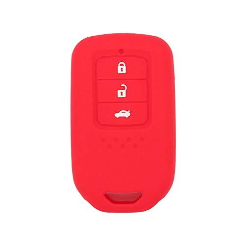 3 Button Remote Silicone - SEGADEN Silicone Cover Protector Case Skin Jacket fit for HONDA 3 Button Smart Remote Key Fob CV4209 Red