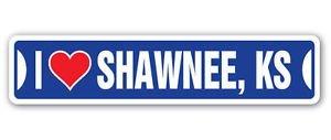 Chili Print I LOVE SHAWNEE, KANSAS Custom Street Signs - Sticker Graphic Personalized Custom Sticker Graphic