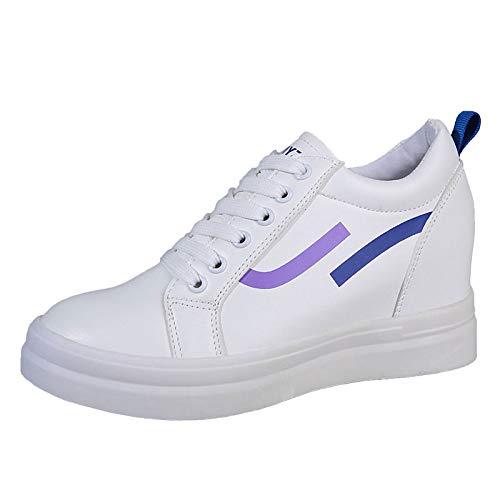 Creepers Cadera Zapatillas Zapatos Azul Mujer Poliuretano La Blue Round Red PU Toe Deporte De De SHOESHAOGE con Caída En AqORx
