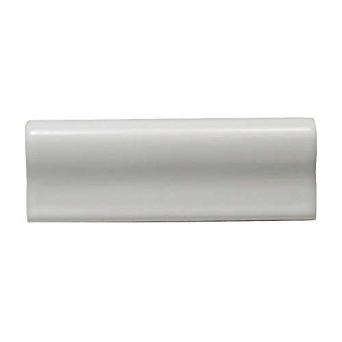 Tile Chair Rail Ceramic (Daltile 6 in. x 2 in. White Ceramic Chair Rail Wall Tile)