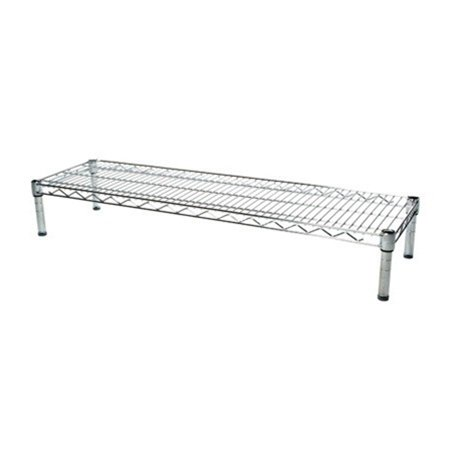 14''d x 48''w Chrome Wire Shelving with 1 Shelf by Shelving Inc