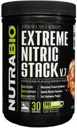 NutraBio Extreme Nitric Stack (Blood Orange) - 525.6 Grams | Pharmaceutical Grade & 100% Active (Extreme Speed Stack)