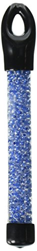 Beaders Paradise LT6E308 Czech Glass Crystal Blue Lined 6/0 E-Beads in a Tube