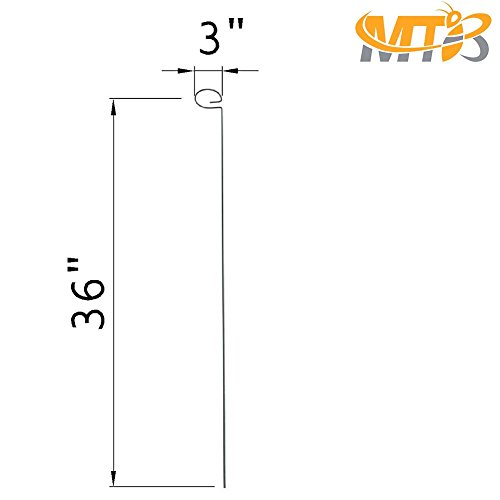 MTB 36 inch Single Stem Plant Support Stakes, Pack of 10 by MTB (Image #1)