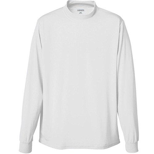 Augusta Activewear Wicking Mock Turtleneck, White, X Large