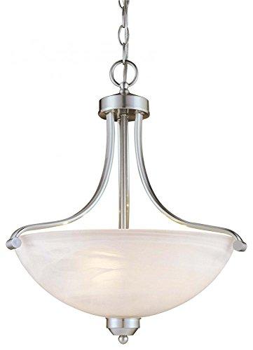 Minka Lavery 1426-84, Paradox Bowl Pendant, 3 Light, 300 Total Watts, Nickel