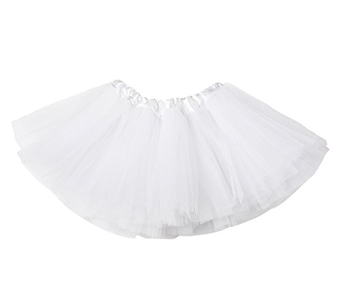 (belababy Baby Girls Skirt White Tutu Dress Up Costume,)