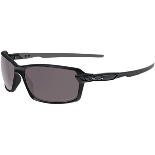 Oakley Men's Carbon Shift Polarized Iridium Rectangular Sunglasses, Matte Black w/Prizm Daily Polarized, 62 - Polarized Black Prizm