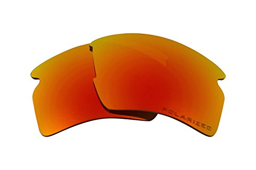 Seek Optics Replacement Lenses for Oakley FLAK 2.0 XL, Revo Fire Red Mirror - Lenses Fire