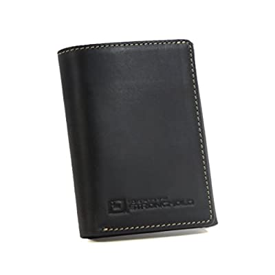 Men's Genuine Leather Trifold Wallet with Full RFID Protection Throughout - Exquisite Quality Rugged Leather