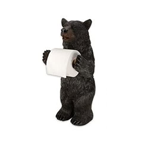 Rivers Edge Products Standing Bear Toilet Paper Holder - Paper Roll Dispenser Holds
