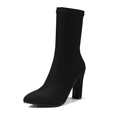Mid Moda Botas EU36 US5 Calf Botas Invierno Carrera Talón Personalizados Para Materiales De 5 Mujer Toe 5 RTRY Chunky Novedad Oficina Zapatos Informal Botas amp;Amp; Señaló CN35 UK3 w0zSq6O