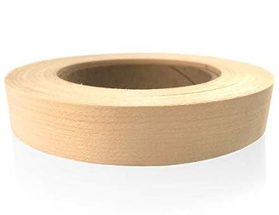 "Edge Supply Birch 3/4"" X 10' Roll of Plywood Edge Banding - Pre-glued Real Wood Veneer Edging - Flexible Veneer Edging - Easy Application Iron-on Edge Banding for Furniture Restoration"