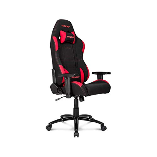 AKRacing Core Series EX Gaming Chair with High Backrest, Recliner, Swivel, Tilt, Rocker & Seat Height Adjustment Mechanisms, 5/10 Warranty – Black/Red