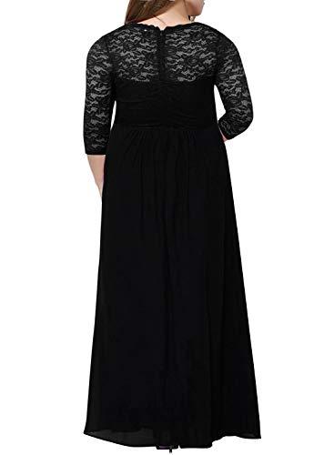 85641b08f5c Home Brands Nemidor Nemidor Women s Deep- V Neck 3 4 Sleeve Vintage Plus  Size Bridesmaid Formal Maxi Dress (22W