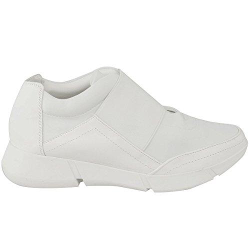 Moda Sete Donne Runner Sneakers Da Ginnastica Fitness Palestra Sport Moda Scarpe Da Donna In Ecopelle Bianca