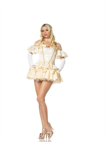 Partyland Southern Belle, Adult (M/L) (Gaston Beauty Beast Halloween Costume)