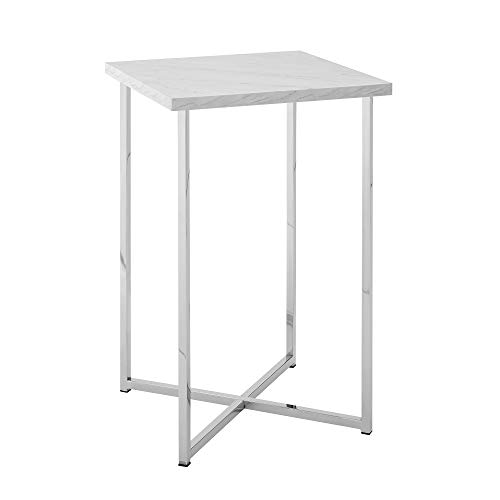 WE Furniture AZF16LUXMCR Side Table, 16