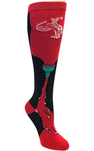 Ripple Junction Sriracha Hot Sauce Adult Unisex Bottle Squeeze No Kanji Knee High Socks One Size Multicoloured (Sriracha Socks)