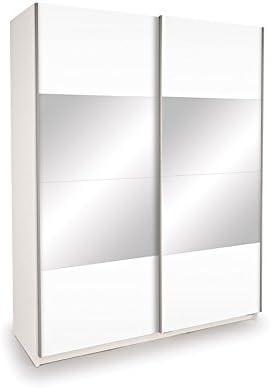 Casa fuente – blanco brillante armario puertas correderas puertas ...