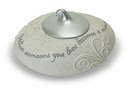 Abbey Gift Becomes a Memory Tea Light Holder W/Silver Cover W, Measures 5
