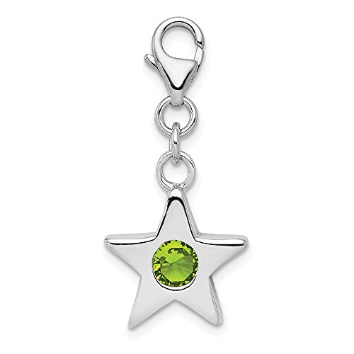 925 Sterling Silver August Cubic Zirconia Cz Birthstone Star Pendant Charm Necklace Fine Jewelry Gifts For Women For Her