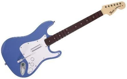 Rock Band 3: Fender Stratocaster Guitar, Azul: Amazon.es: Videojuegos