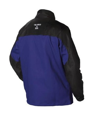 Combo Weld Jkt, Royal/Blk, Ctn/Leather, M