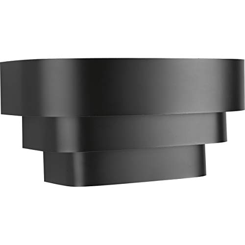 Progress Lighting P7103-31 Black One-Light Wall Sconce, 14-Inch Width x 7-Inch Height,