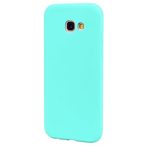 Funda Galaxy A5 2017 Carcasa para Samsung A5 2017 Silicona Anfire Suave Flexible gel TPU Case para Samsung galaxy A5 2017 (5.2 pulgadas) Ultra Delgado Mate Goma Protectora Bumper Tapa Anti Rasguños An Verde
