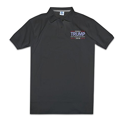 Donald Trump For President 2016 Mens O Neck Polo Tshirts Size XXL Color Black
