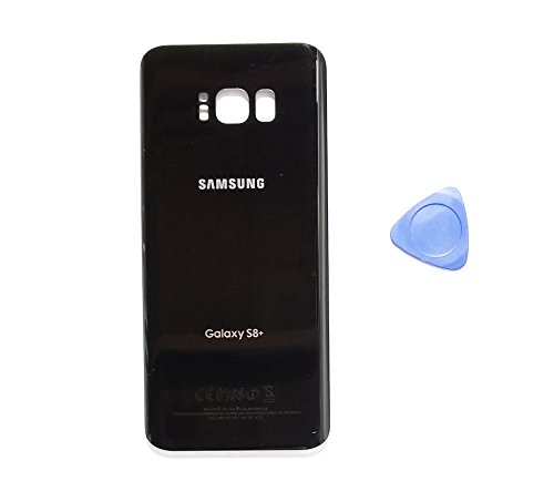 (md0410) Galaxy S8 PLUS OEM Midnight Black Rear Back Glass Lens Grey Battery Door Housing Cover + Adhesive Replacement For G955 G955F G955A G955V G955P G955T with opening tool